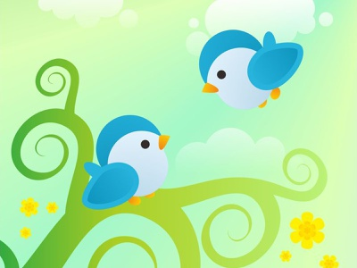 Little Bird vector animal cute childrens illustration illustration design