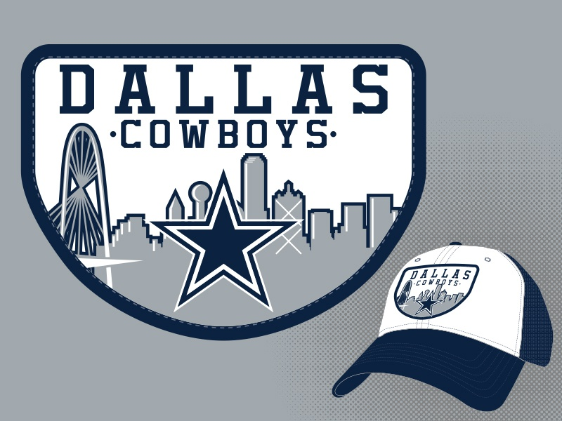 Cowboys Skyline Patch skyline city illustrator embroidery nfl football star  patch headwear hat cowboys dallas 2789c783e1e