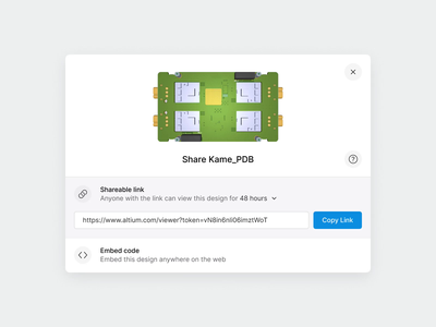 A365 Embed Modal animation code web interaction modal embed share product design interface pcb figma