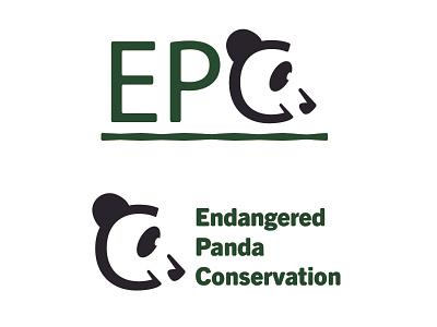 Daily Logo Challenge - Day 3 - Endangered Panda Conservation vector logo design logodesign logo illustrator icon design dailylogochallenge branding