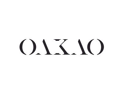 Daily Logo Challenge - Day 7 - Oakao Fashion Brand logotype daily logo challenge typography logodesign logo design logo illustrator design dailylogochallenge branding