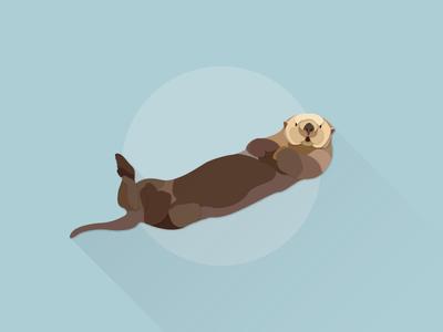 Sea Otter works illustrator