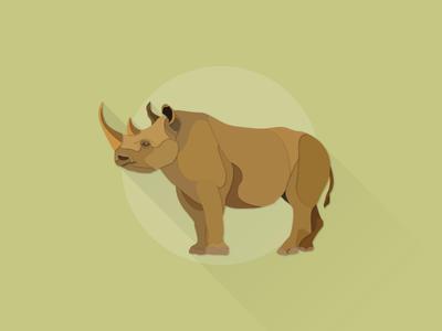 Black Rhinoceros works illustrator