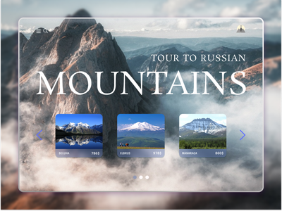 Montains web ui ux design belarus