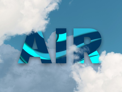 Air papercut effect air clouds blue and white blue papercut design