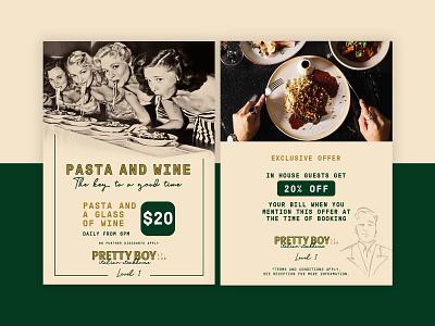 Pretty Boy Poster Design restaurant branding poster design design restaurant