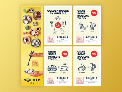 Goldie Restaurant Poster Design design poster design restaurant branding