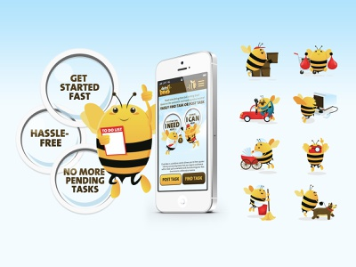 Duty Bees Branding & Illustration ui design brand design illustration branding design
