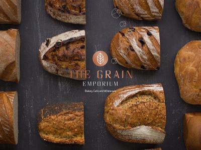 The Grain Emporium Branding design logo restaurant branding