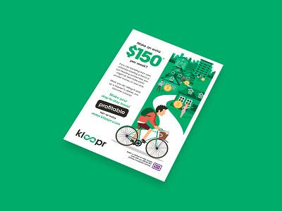 Kloopr Flyer Design print design design flyer design