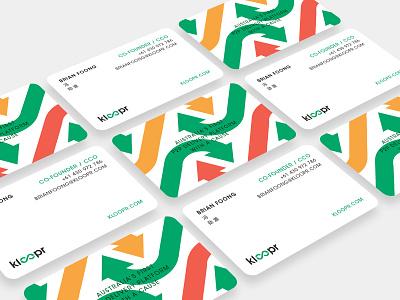 Kloopr Business Cards branding prints business card design