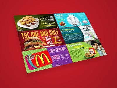 McDonald's Promotional Website Banners restaurant branding website design