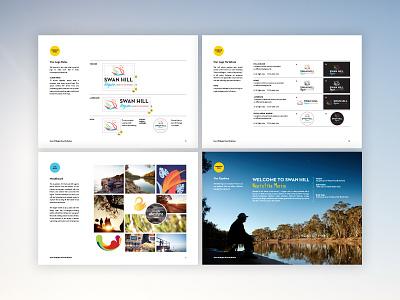 Visit Swan Hill Brand Guidelines style guide logo design branding