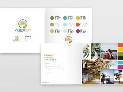 Visit Swan Hill - Discover More Logo Design style guide logo design branding