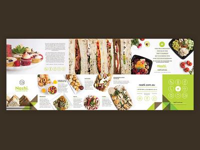 Nashi Catering Flyer Design flyer design flyer restaurant branding branding