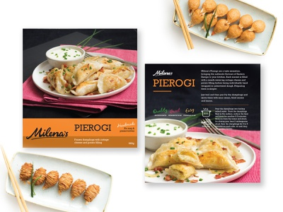Milena's Pierogi Packaging Design pierogi food and drink branding packaging design