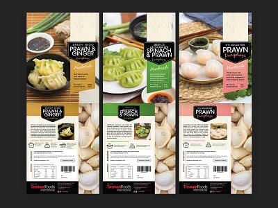 Tasman Foods Dumplings Packaging dumplings food and drink design packaging design