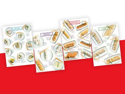 Tasman Foods Catalogue Design design food and drink dumplings catalogue