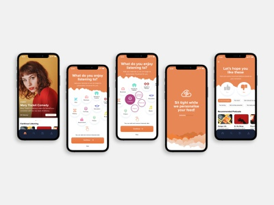 Cloudcast Podcast App Design mobile app podcast prototype app design ux design ui ui  ux