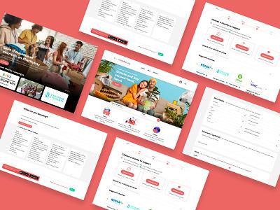 charityBay Website Design online marketplace charity website design ui design ux design