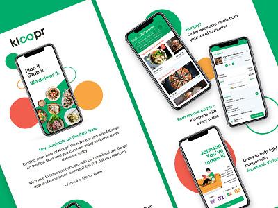 Kloopr Food Delivery App ui design food and drink app design