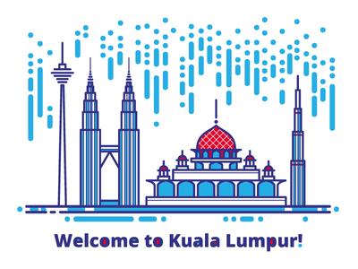 Welcome to Kuala Lumpur! city building petronas towers mosque malaysia kuala lumpur asia