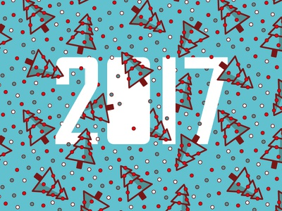 Happy New Year! Love! Peace! pattern christmas tree blue new year letter