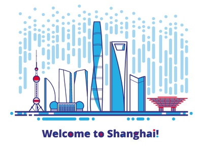 Welcome to Shanghai! city building asia shanghai china