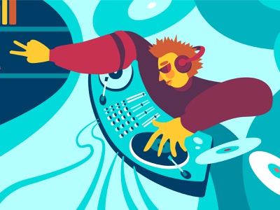 Ukrainian musical community music flat vector design people color city ukraine illustration
