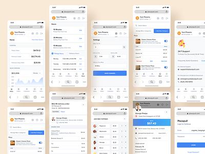 Placepull Dashboard mobile responsive 🍕 pizzeria restaurant food ordering app food ordering mobile responsive mobile ui