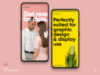 Font preview for graphic editor app mockup font design typography android preview app material font