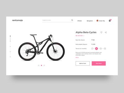 Rentomojo - Product Page Redesign bikes share review website mumbai delhi bangalore rentomojo rent product cycle checkout