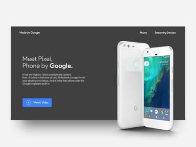 Google pixel landing page