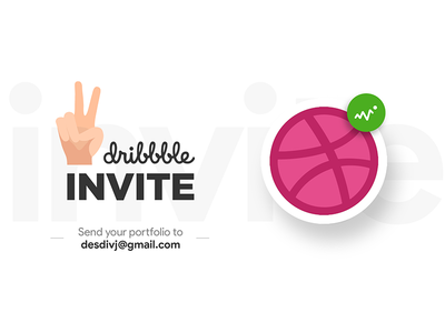 2 Dribbble Invites Giveaway debut dribbble invite giveaway 2 invites two invitation shot draft player giveaway invite dribbble