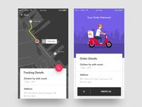 Food app order tracking
