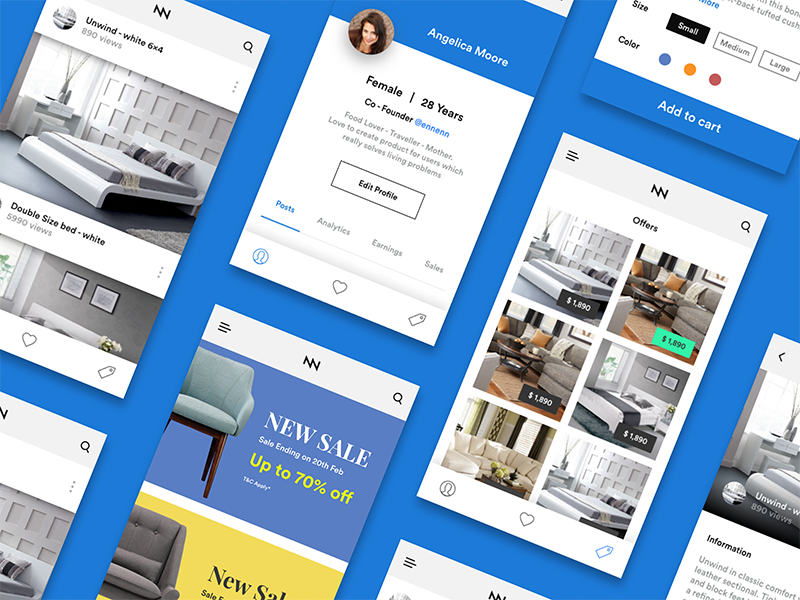 Online Furniture Shopping App Ui Kit Ios By Divan Raj On Dribbble