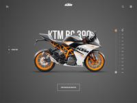 KTM RC 390 - Landing page