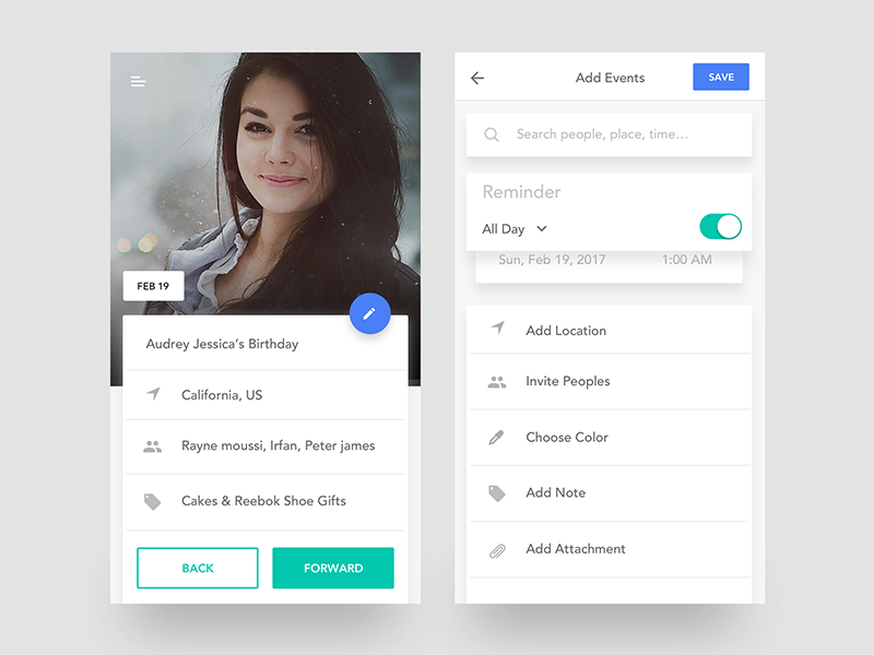 Inspirasi #26 - UI / UX Design Event App