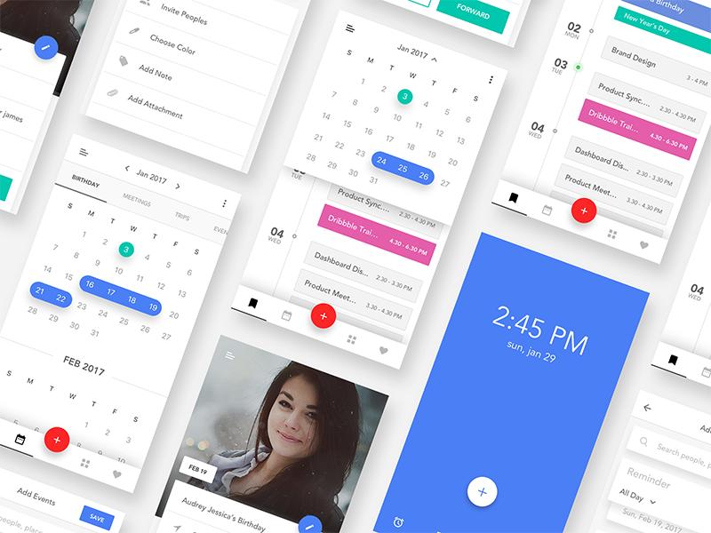 Event Calendar Ui Design : Event calendar ios app ui kit by divan raj dribbble