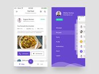 User Details & Menu - ZAD App iOS