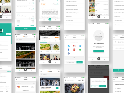 Complete iOS ui kit for delivery app  profile credit card empty cart tracking product checkout onboarding ui bundle ios app ui kit groceries food app delivery