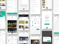 Complete iOS ui kit for delivery app