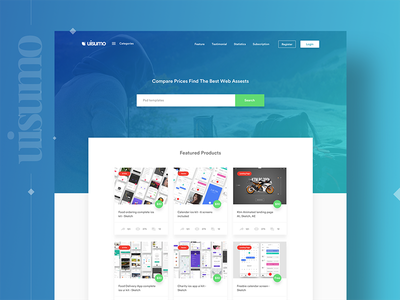 UISUMO Landing page - Subscribe Now freebies icons logo uisumo templates ui kit mockup gradient web page shot landing page ribbble