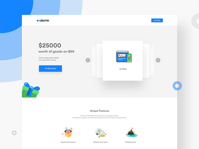 Landing page uisumo dribbble