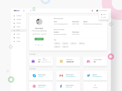 UISUMO client details page. freebies icons logo uisumo templates ui kit mockup invoices web page dashboard landing page dribbble