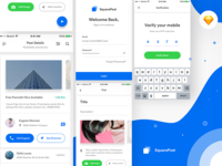 Squarepost UI Kit - sketch