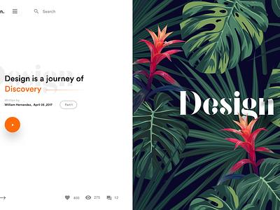 Split fold Design for blog split web design presentation flower uidesign minimal mobile split fold blog design landing page webdesign cards