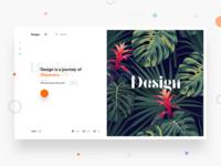 Split fold Design for blog
