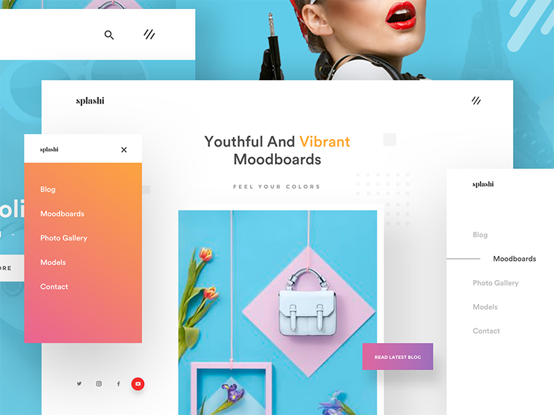 moodboard website presentation m web by divan raj dribbble