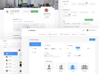 Dashboard - Tenant Profile landlord setting website account house minimal website ui webdesign features footer dashboard tenant